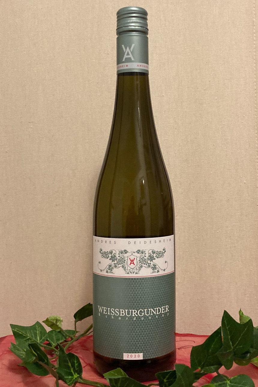 2020 Weißburgunder & Chardonnay trocken Biowein, Weingut Andres, Deidesheim